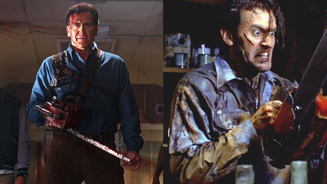 Bruce Campbell nel ruolo di Ash