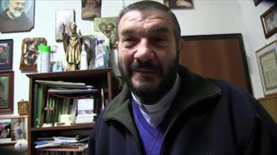 Il sacerdote intervenuto sul luogo