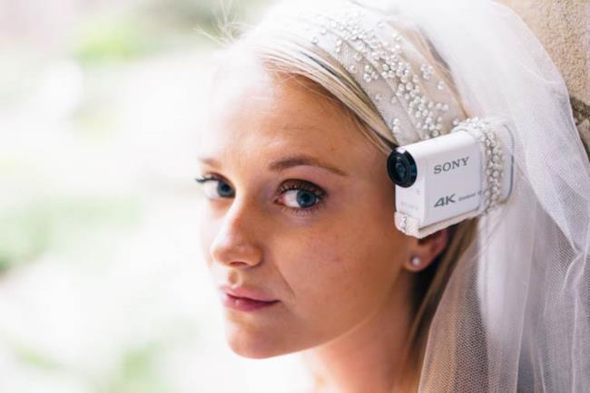 Ecco il primo velo da sposa al mondo con telecamera incorporata