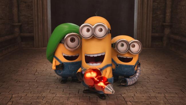 I protagonisti del film di Minion: Kevin, Stuart e Bob