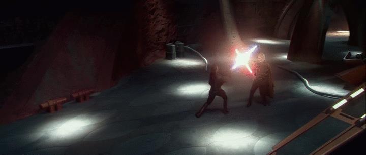 Anakin Skywalker perde un braccio