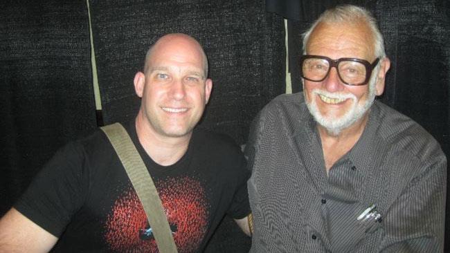 George Romero e il figlio