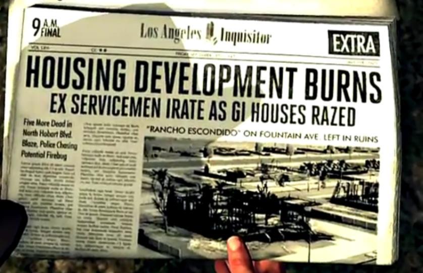 Un giornale nel videogame L.A. Noire