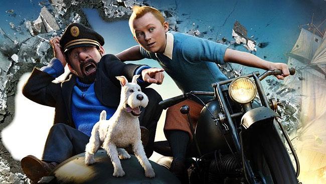 Tintin e Haddock nelle Avventure di Tintin