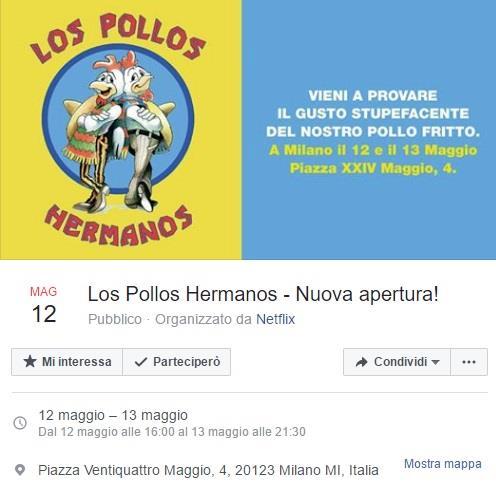 Los Pollos Hermanos apre a Milano - L'evento su Facebook