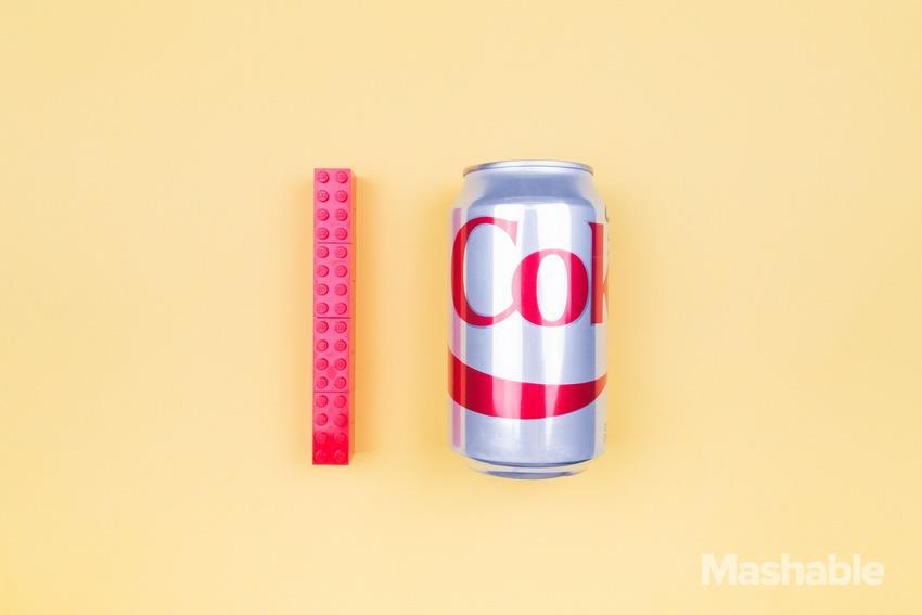 Le dimensioni di un pene eretto a confronto di una lattina
