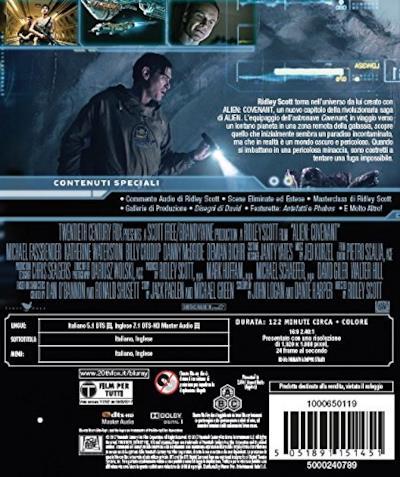 Il retro del DVD