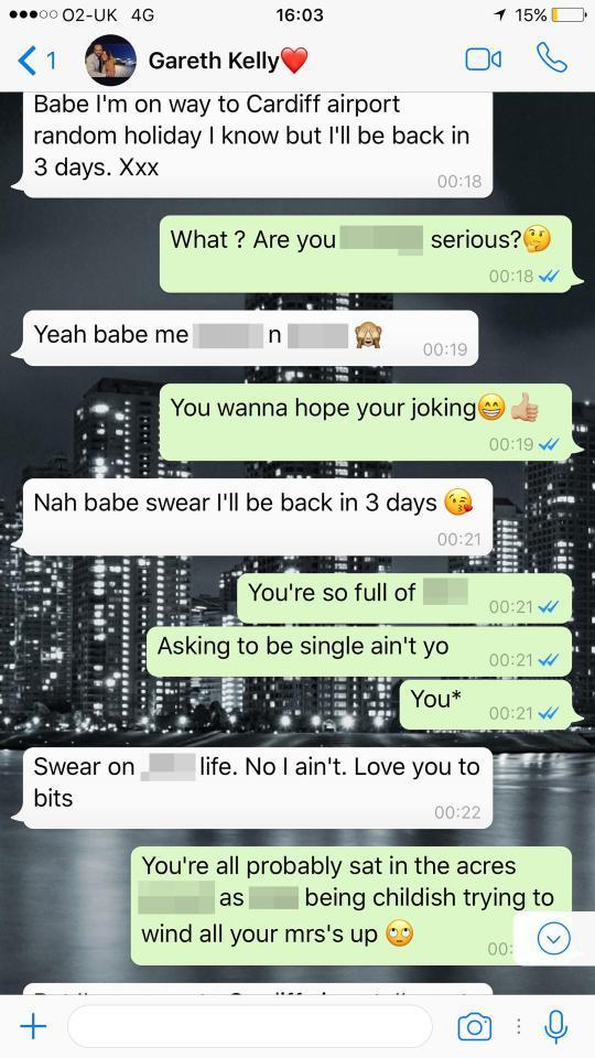 Gareth annuncia alla sua ragazza la partenza per Ibiza