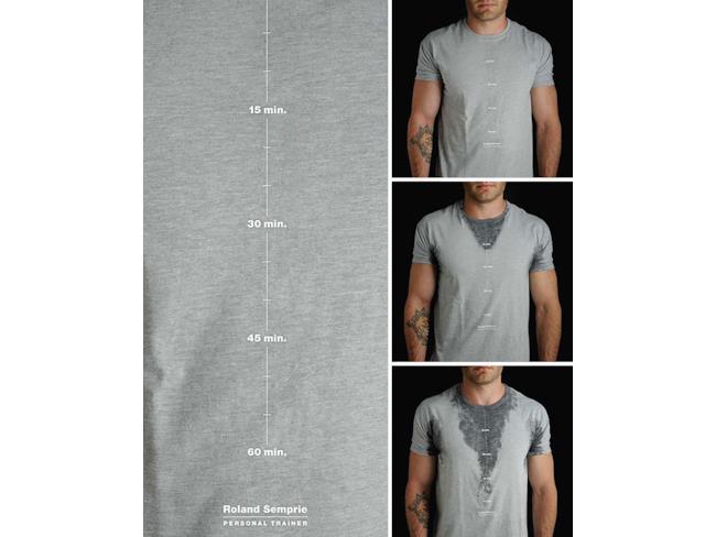 T-shirt che misura gli sforzi fisici col sudore