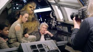 Han Solo e i nuovi protagonisti di Star Wars 7