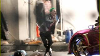 Il Joker sul set di Suicide Squad