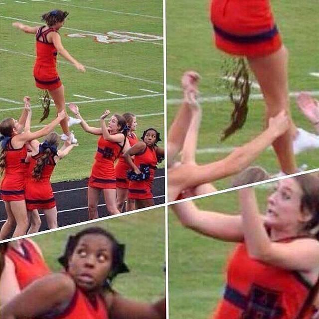 Cheerleader epic fail