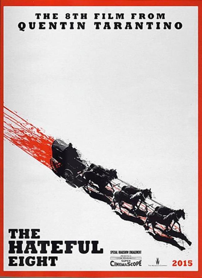 Il poster ufficiale del film The Hateful Eight
