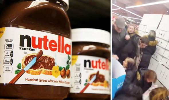 A sinistra la Nutella, a destra una lotta