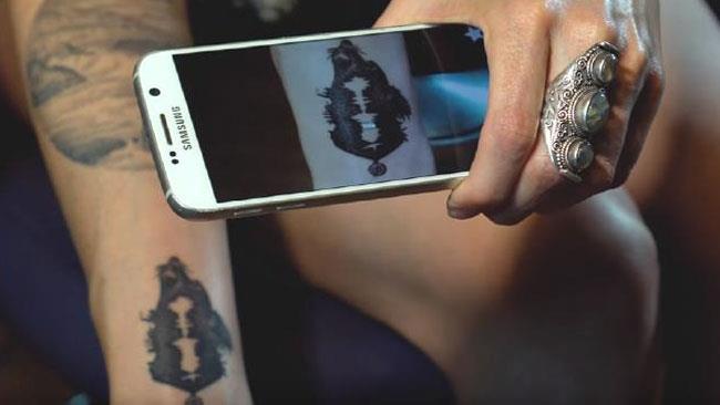 Un tatuaggio analizzato dall'app Skin Motion