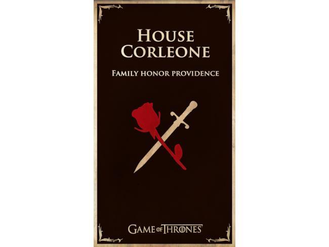 Banner di Casa Corleone in Game of Thrones