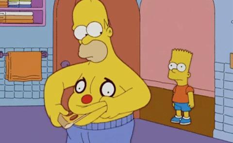 Gif di Homer e Bart dei Simpson