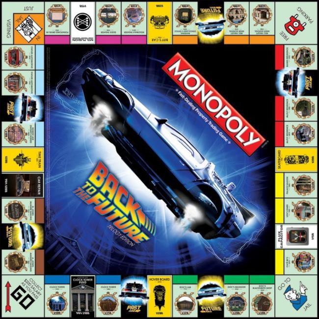 Uno sguardo da vicino al tabellone del Monopoly di Ritorno al Futuro