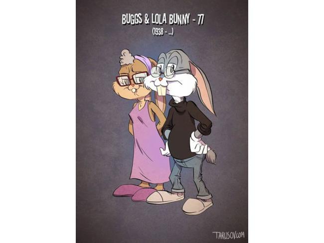 La vecchiaia di Bugs e Lola Bunny