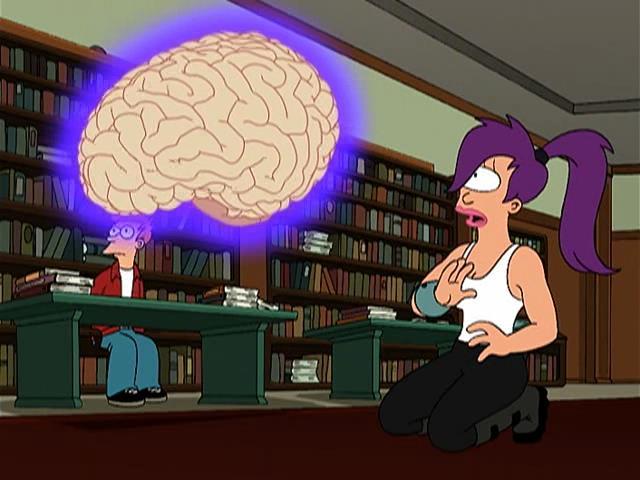Una scena della serie TV Futurama