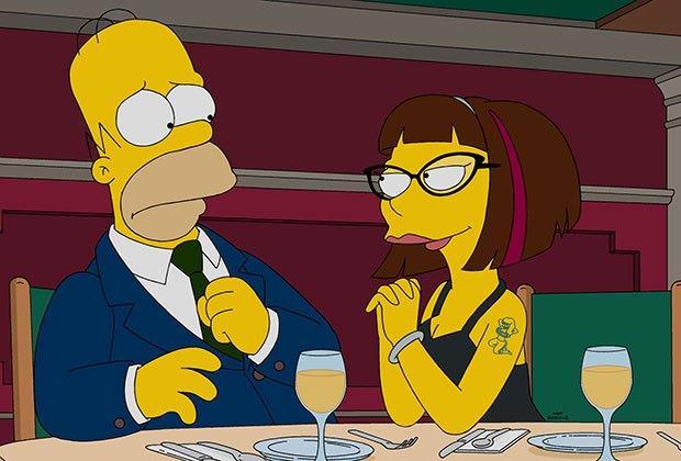 Homer a cena con la farmacista Candace