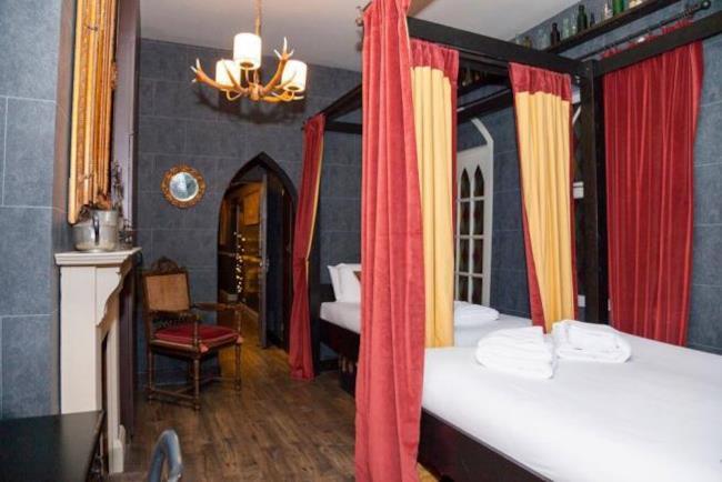 camera dell'hotel a tema Harry Potter di Londra