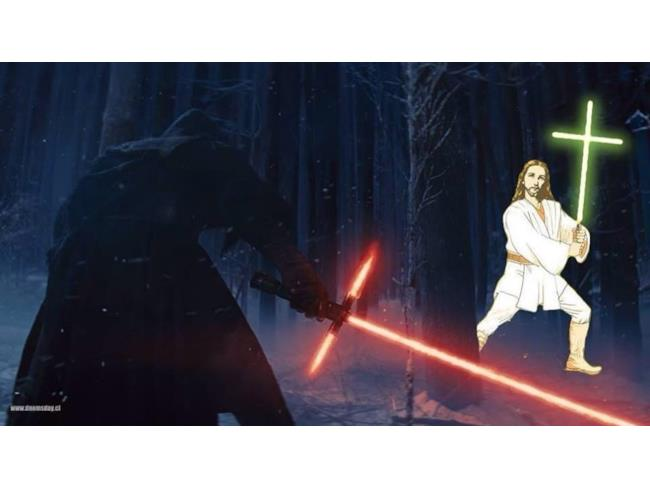 Immagine del cattivo di Star Wars 7 contro Gesù