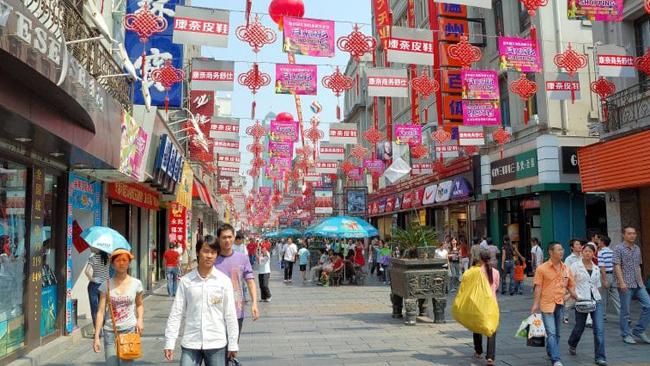 Una foto scattata a Wenzhou, in Cina