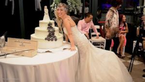 Laura Mesi al suo matrimonio con sé stessa