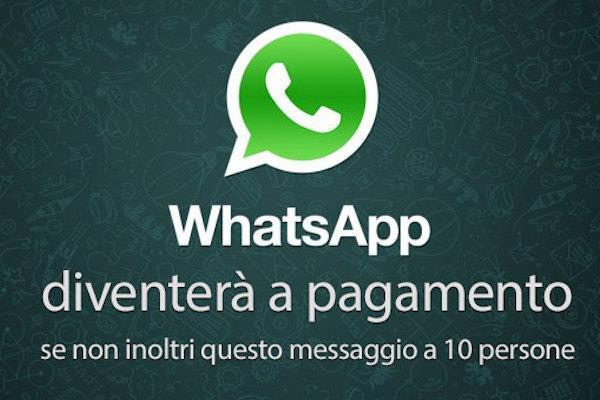 Un esempio di bufala circolata su WhatsApp fra gli utenti