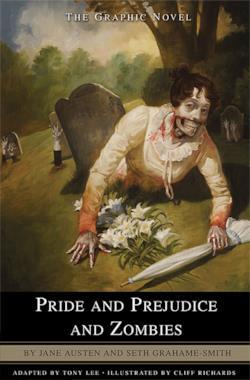 La copertina della graphic novel di Orgoglio e Pregiudizio e Zombie