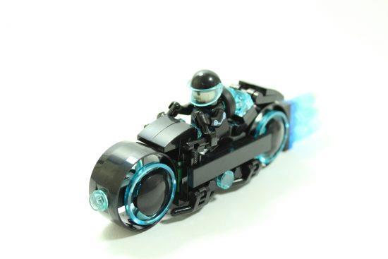 Un dettaglio della moto di LEGO Tron