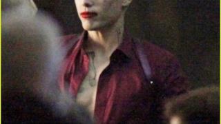Il Joker visto da vicino sul set di Suicide Squad