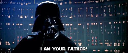 Io sono tuo padre, dice Darth Vader
