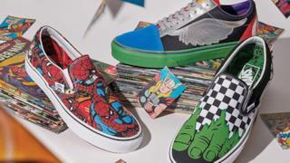 Vans di Hulk e Spidermn della collezione Marvel