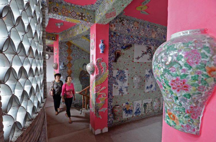 Uno dei corridoi della casa