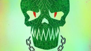 Il cartoon poster di Killer Croc in Suicide Squad