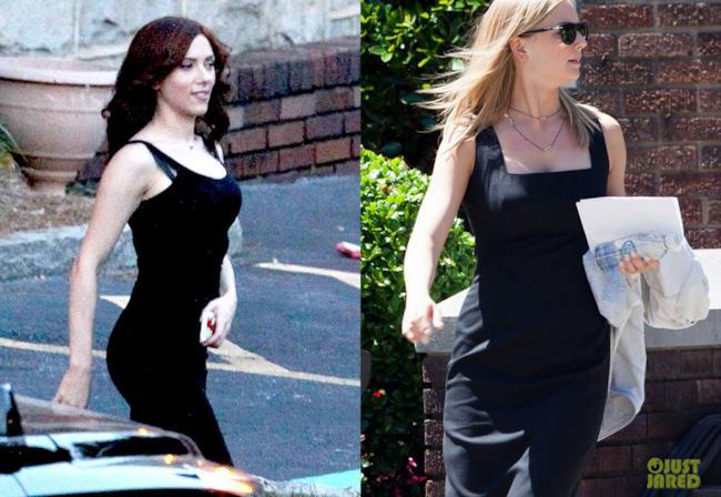 Scarlett Johansson e Emily VanCamp a un funerale in Capitan America: Civil War