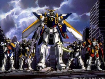 Alcuni Gundam schierati