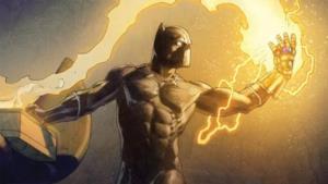 Pantera Nera con il guanto dell'Infinito
