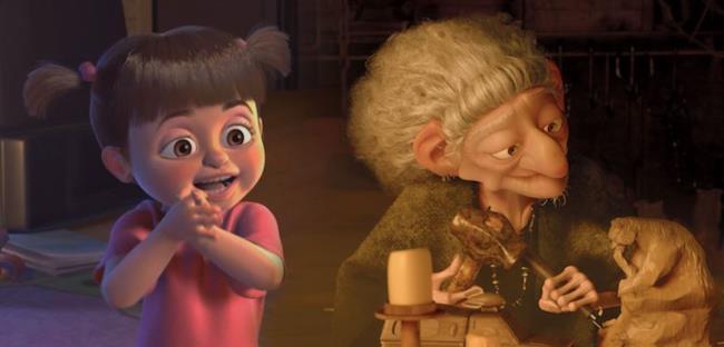 Boo e la strega di Brave messe a confronto.