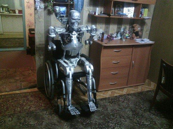 immagine del Terminator casalingo in via di realizzazione