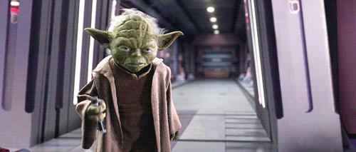 Joda con spada laser da Star Wars