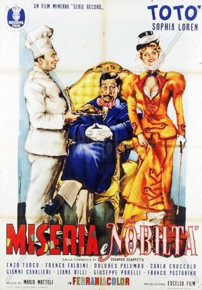 La locandina de Miseria e nobiltà