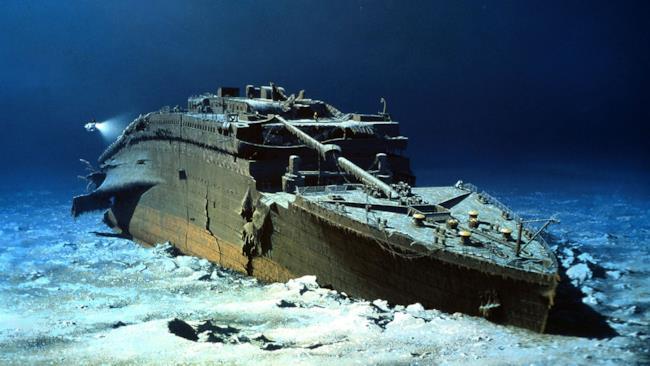 Il relitto del Titanic sul fondo dell'oceano