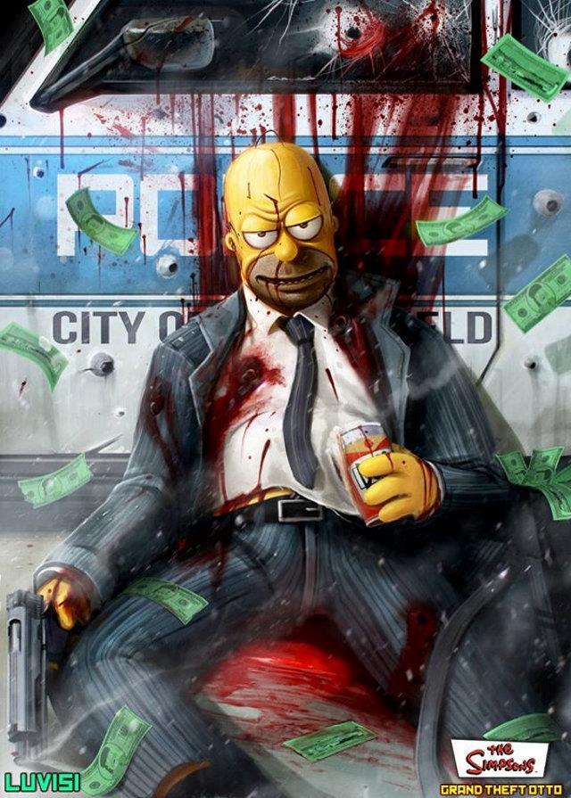 Homer Simpson in versione cattiva