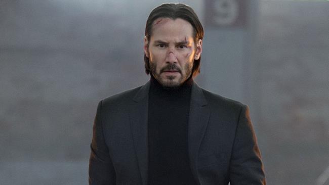 Una scena si John Wick interpretata da Keanu Reeves