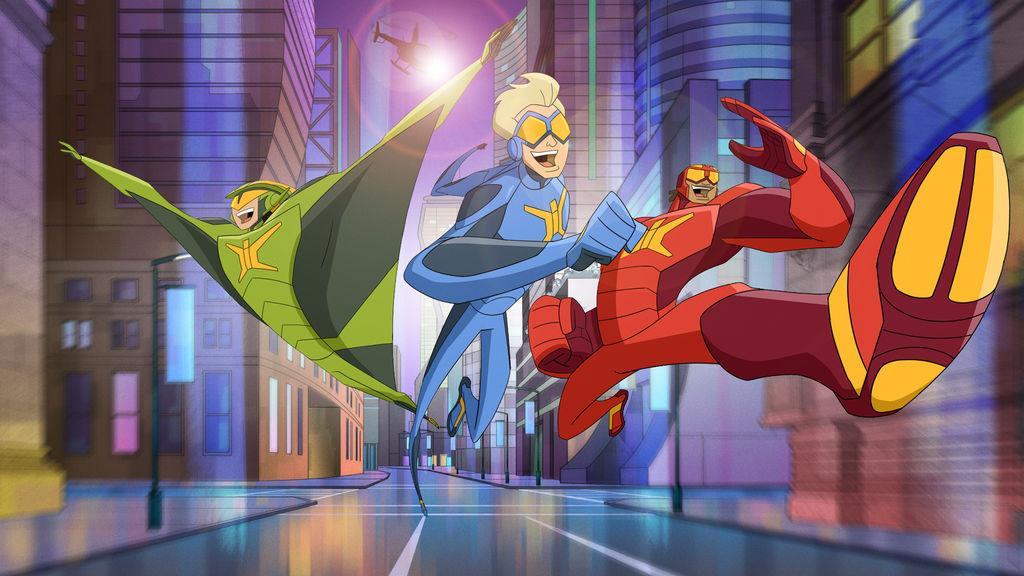 L'immagine di tre eroi dalla serie TV