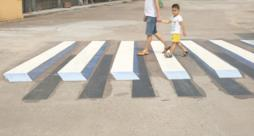 Disegni 3D sulle strade indiane