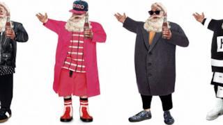 Babbo Natale fashion victim, le cartoline per le feste